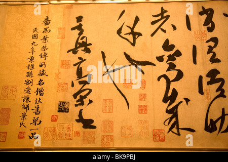 Antique protected in Shanghai Museum of History,China - Stock Photo