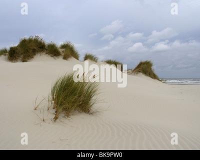 De duinen van Ameland bij naderend slecht weer. - Stock Photo
