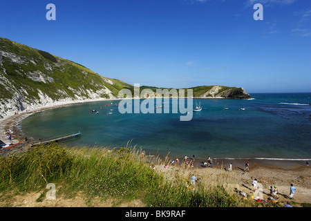 Lulworth Cove, Dorset, England, United Kingdom - Stock Photo