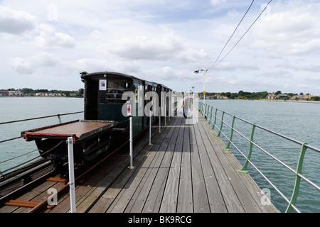 Hythe Pier Railway, Southampton, Hampshire, England, United Kingdom - Stock Photo