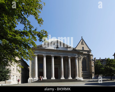 St. Pierre Cathedral, Geneva, Canton of Geneva, Switzerland - Stock Photo