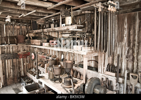 tool shed or work shop - Stock Photo