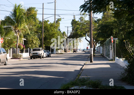 A Street in Key West, Florida. - Stock Photo