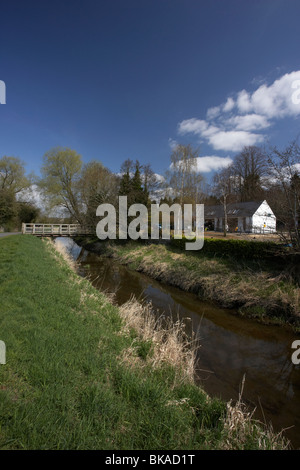 newry canal and scarva visitor centre and tea rooms in village county down northern ireland uk - Stock Photo