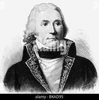 Masséna, André, 6.5.1756 - 14.4.1817, French general, portrait, wood engraving by Brendamour, 19th century, ,