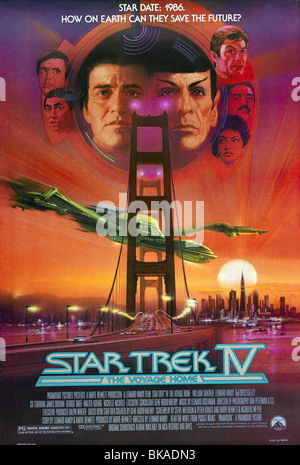 Star Trek IV: The Voyage Home  Year : 1986 - USA Director : Leonard Nimoy Movie poster (USA) - Stock Photo