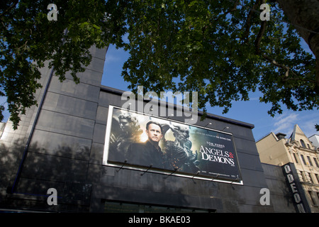Angels and Demons film poster Odeon Leicester Square London uk - Stock Photo