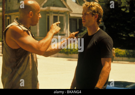 THE FAST AND THE FURIOUS (2001) RACER X, STREET WARS (ALT) VIN DIESEL, PAUL WALKER FATF 052 - Stock Photo