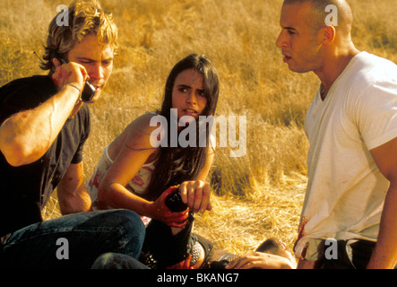 THE FAST AND THE FURIOUS (2001) RACER X, STREET WARS (ALT) PAUL WALKER, JORDANA BREWSTER, VIN DIESEL FATF 054 - Stock Photo