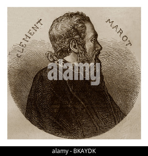 Clement Marot (1496-1544): French poet of Renaissance. - Stock Photo