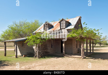 Texas, Hill Country, Brackettville, Alamo Village, movie location since 1951, Parson's House - Stock Photo