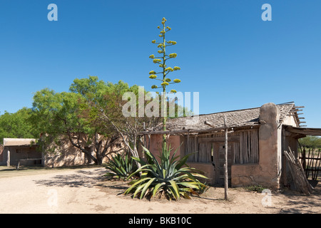 Texas, Hill Country, Brackettville, Alamo Village, movie location since 1951, Maias Trading Post - Stock Photo