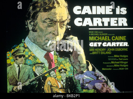 GET CARTER (1971) MICHAEL CAINE POSTER GCR 026 - Stock Photo