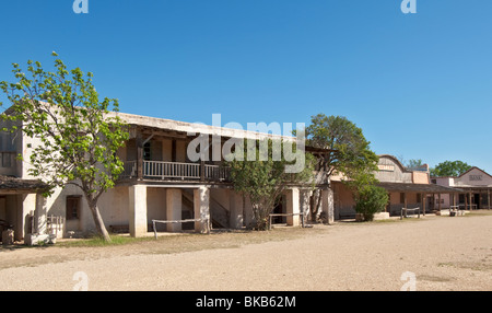Texas, Hill Country, Brackettville, Alamo Village, movie location since 1951 - Stock Photo