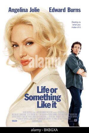 LIFE OR SOMETHING LIKE IT (2002) ANGELINA JOLIE, EDWARD BURNS POSTER LSLI 001 POST2 - Stock Photo