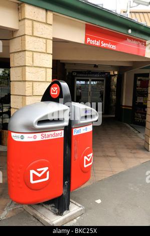 Letter box outside Tekapo Post Office. New Zealand. - Stock Photo