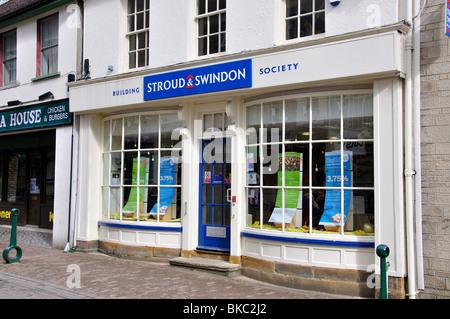Stroud & Swindon Building Society, Parsonage Street, Dursley, Gloucestershire, England, United Kingdom - Stock Photo
