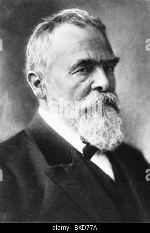 Linde, Carl von, 11.6.1842 - 16.11.1934, German engineer, inventor of the refrigerator (1876), portrait, photo, - Stock Photo