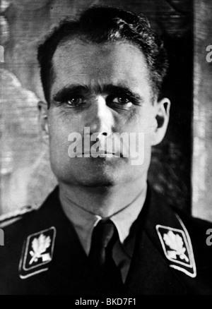 Hess, Rudolf, 26.4.1894 - 17.8.1987, German politician (NSDAP), Adolf Hitler's Deputy 1933 - 1941, portrait, 1930s, - Stock Photo
