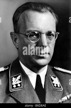 Seyss-Inquart, Arthur, 22.7.1892 - 16.10.1946, Austrian politician (NSDAP), portrait, in SS uniform, circa 1940, - Stock Photo