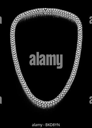 large diamond necklace - Stock Photo