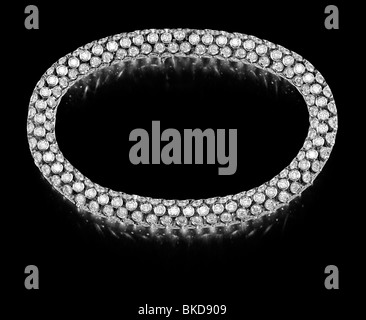 large diamond bracelet - Stock Photo
