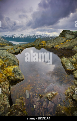 Taiya Inlet, Lynn Canal, Coast Mountains, Alaska, Usa - Stock Photo