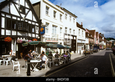 UK England, Hampshire, Winchester, High Street, the Eclipse Inn - Stock Photo
