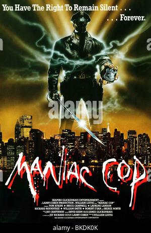 MANIAC COP -1988 POSTER - Stock Photo