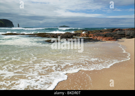 Sandwood Bay in Sutherland Scotland UK - Stock Photo