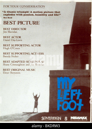 MY LEFT FOOT -1989 POSTER - Stock Photo