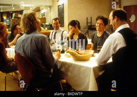NOTTING HILL (1999) EMMA CHAMBERS, RHYS IFANS, HUGH BONNEVILLE, GINA MCKEE, HUGH GRANT, TIM MCINNERNY NOHI 191 - Stock Photo