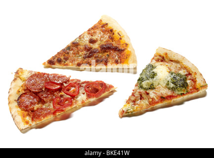 pizza slices - Stock Photo