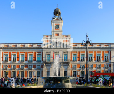 Main post office madrid spain stock photo royalty free for Puerta del sol 9 madrid