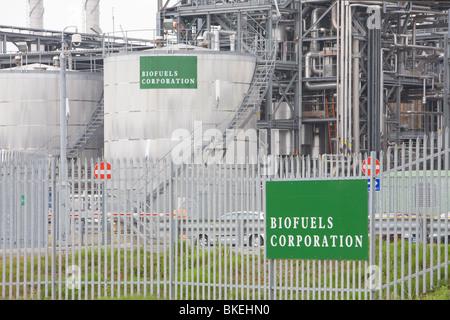 A bio diesel refinery plant on Teeside UK - Stock Photo