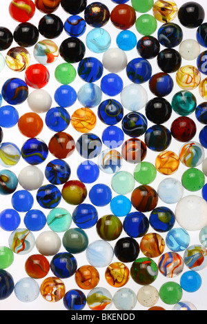 glass marbles, colorful - Stock Photo