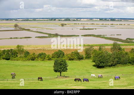 Managed retreat, Breach at Alkborough on the Humber Estuary in Eastern England - Stock Photo