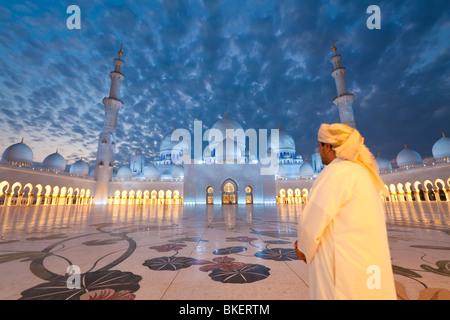 Sheikh Zayed Bin Sultan Al Nahyan Mosque, Abu Dhabi, United Arab Emirates, UAE - M.R - Stock Photo