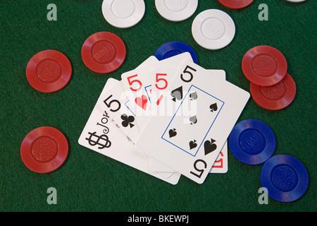Joker poker 5 of a kind