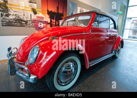 1964 Volkswagen 1200 Deluxe 2-door Convertible, National Automobile Museum, Reno, Nevada. - Stock Photo