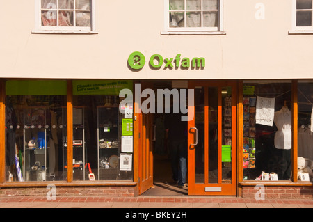The Oxfam charity shop store in Bury Saint Edmunds , Suffolk , England , Great Britain , UK - Stock Photo