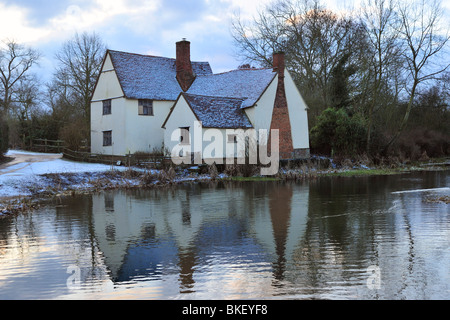 Willie Lott's Cottage near Flatford Mill - Stock Photo