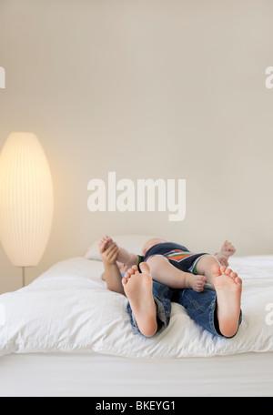 Feet And Toes Of A Sleeping Child Little Boy Asleep
