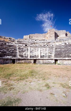 Miletus Amphitheatre ruins, (4th Century BC - 2nd Century AD), Turkey - Stock Photo