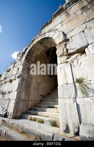 Miletus Amphitheatre ruins, Arched Entrance Gateway (4th Century BC - 2nd Century AD), Turkey - Stock Photo