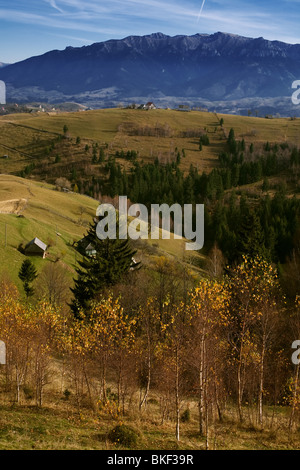 Mountain landscape in Romanian mountains - Stock Photo