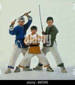 THREE NINJAS (1993) MICHAEL TREANOR, CHAD POWER, MAX ELLIOTT SLADE TNJA 001 - Stock Photo