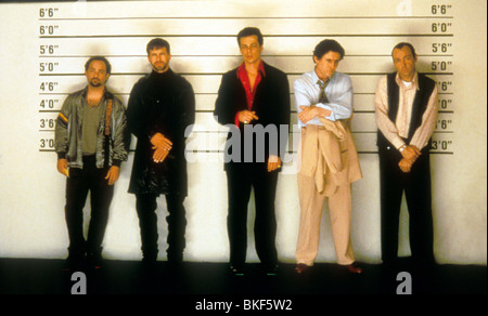 THE USUAL SUSPECTS (1995) KEVIN POLLAK, STEPHEN BALDWIN, BENICIO DEL TORO, GABRIEL BYRNE, KEVIN SPACEY USSS 003 - Stock Photo