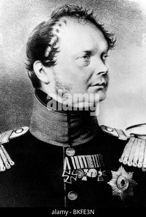 Frederick William IV, 15.10.1795 - 2.1.1861, King of Prussia 7.6.1840 - 26.10.1858, portrait, lithograph, 1840s, - Stock Photo