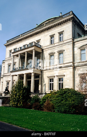 Villa Huegel in Essen, former residence of the Krupp family - Stock Photo